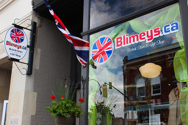 Blimey's British Store and Gift Shop logo